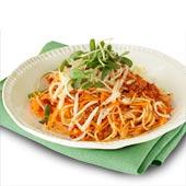 Spagetti med köttfärs och rivna rotfrukter