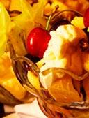 Fruktsallad med pikant sås