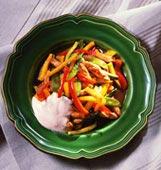 Snabblagad skink- och grönsaksgryta