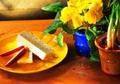 Vanilj- och kanelparfait med äppelsås