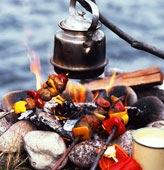 Currymarinerat grillspett med tandoorisås