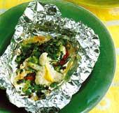 Fiskpaket med senapscrème
