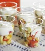 Fruktsallad med yoghurt
