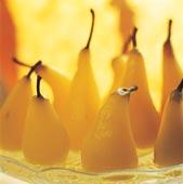 Ingefärspäron med konjaksgrädde