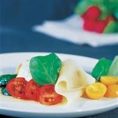 Öppen ravioli med grönsaker