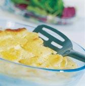 Ungersk gratäng på potatis och ägg