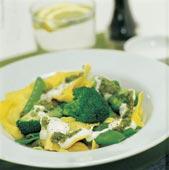 Ravioli med pesto och vitlök