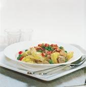 Tortellini med kyckling och bacon