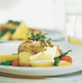 Fiskkotlett med limesås