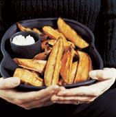 Rostad sötpotatis med fetaost