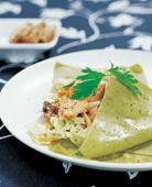 Lasagne med kyckling och champinjoner
