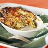 Färsk lasagne med rökt lax och broccoli