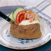 Bakad potatis med mumsig fyllning