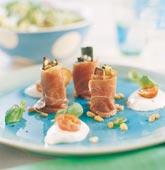 Parmaskinka med ugnsbakad zucchini