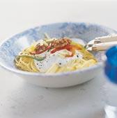 Pasta med Blue Cheese och valnötter