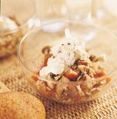Risotto på råris och svamp med ostkräm