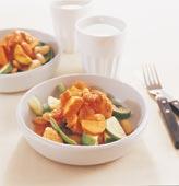 Mustig kalkongryta med grönsaker och bönor