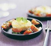 Getostmousse med tomatsalsa och honungs-vinaigrette