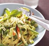 Vegetarisk grönsaksspagetti