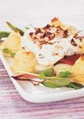 Hasselnötsfisk med potatistoppar