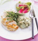 Stekt kyckling med salsa verdesås