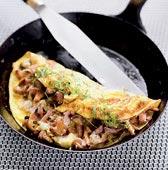 Kantarellfylld omelett med Västerbottensost