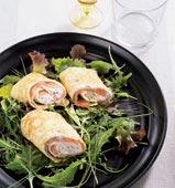 Laxfylld picnic-omelett