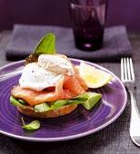 Toast med pocherat ägg