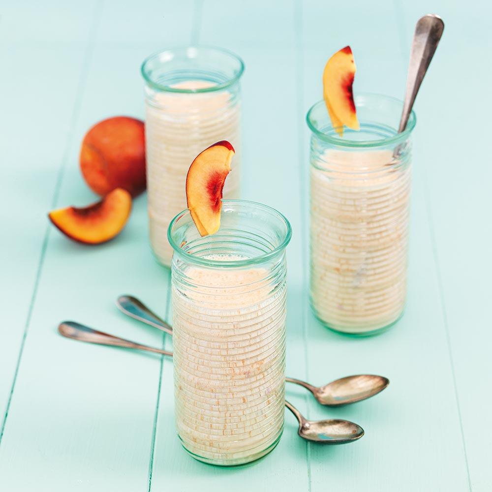 Passionsdrink med persika och hallon