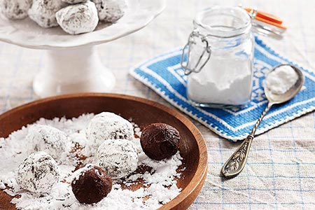 Tryffel med rom och vaniljsocker