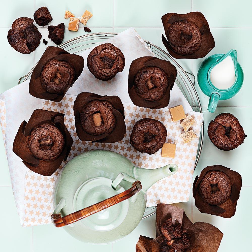 Chokladmuffins med kolagömma