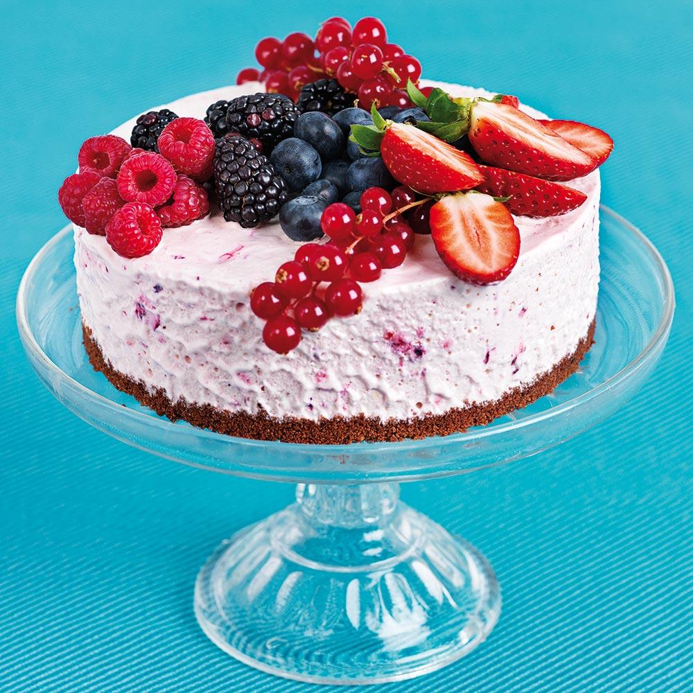 Somrig glasstårta