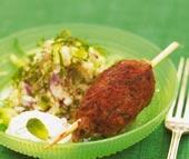 Lammkebab med couscoussallad