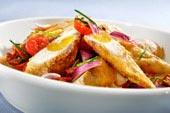 Piccata-kyckling med aprikos, parmaskinka och tomatsalsa