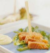 Sashimi med wasabifraiche