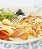 Tortilla med serranoskinka