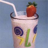 Mjölkdrink med jordgubb