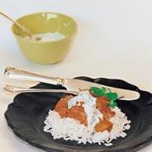 Kyckling tandoori med fil och myntasås