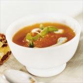 Morotssoppa med ingefära och myntayoghurt