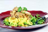 Kycklinggryta med svamp och couscous