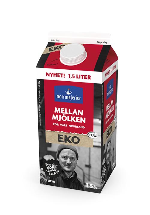 Mellanmjölken Eko 1,5% KRAV 1,5 liter