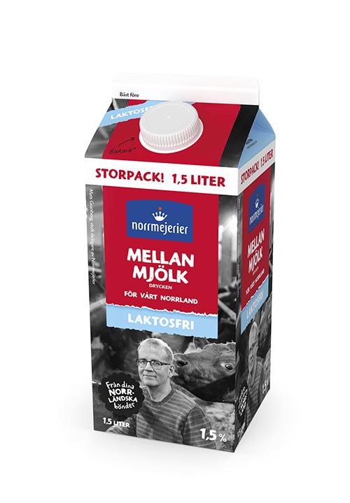 Laktosfri Mellanmjölk dryck 1,5% 1,5 liter
