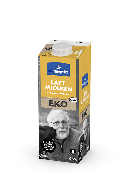 Lättmjölken Eko 0,5% KRAV 1 liter