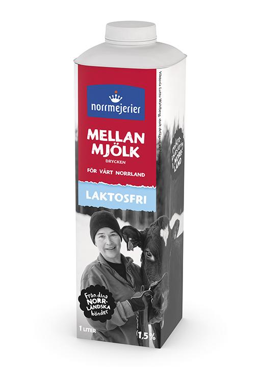 Mellanmjölkdrycken Laktosfri  1,5% 1 liter