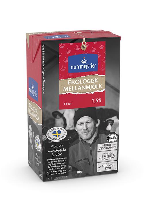Ekologisk Mellanmjölk 1,5% KRAV