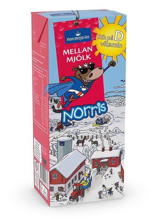 Norris® Mellanmjölk 1,5% 1,5 liter