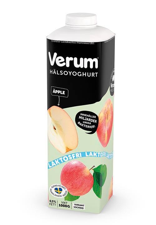 Verum® Hälsoyoghurt 0,5% Äpple Laktosfri