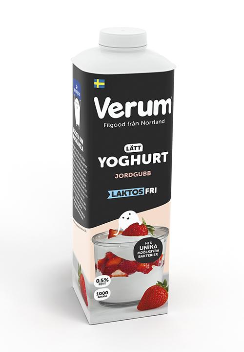Verum® Hälsoyoghurt 0,5% Jordgubb Laktosfri