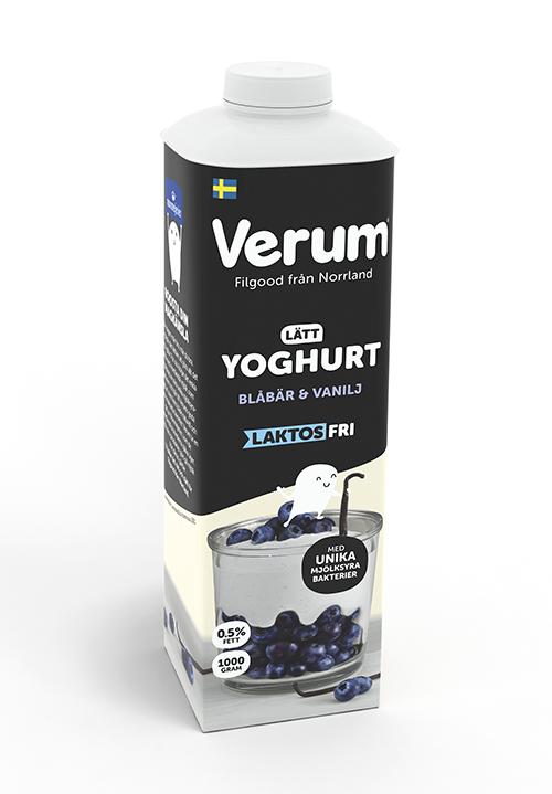 Verum® Hälsoyoghurt 0,5% Blåbär-vanilj Laktosfri