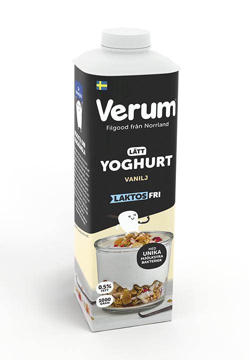 Verum® Hälsoyoghurt 0,5% Vanilj Laktosfri 1000g